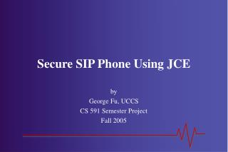 Secure SIP Phone Using JCE