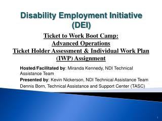 Hosted/Facilitated by : Miranda Kennedy, NDI Technical Assistance Team