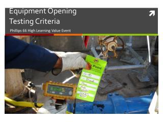 Equipment Opening  Testing Criteria