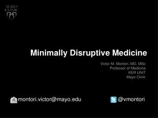 Minimally Disruptive Medicine