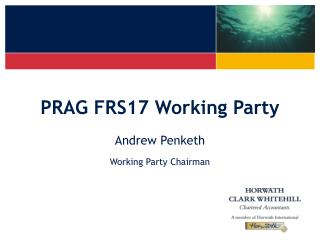 PRAG FRS17 Working Party