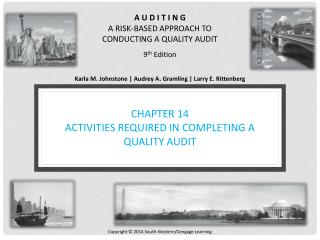 CHAPTER 14 ACTIVITIES REQUIRED IN COMPLETING A QUALITY AUDIT