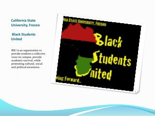 California State University, Fresno  Black Students United