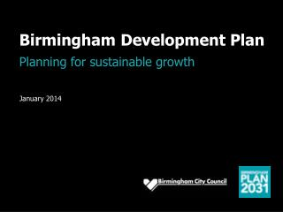 Birmingham Development Plan Planning for sustainable growth