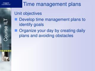 Time management plans
