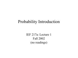 Probability Introduction