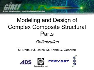 Modeling and Design of Complex Composite Structural Parts