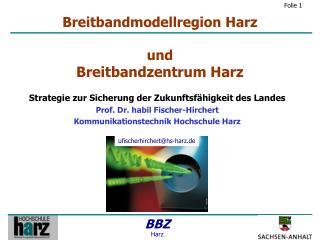 Breitbandmodellregion Harz und Breitbandzentrum Harz