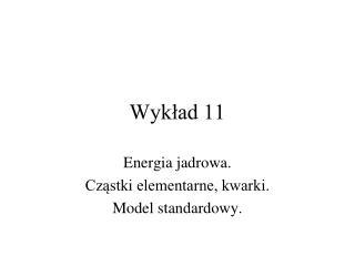 Wykład 11