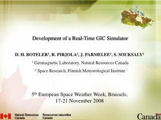 Development of a Real-Time GIC Simulator