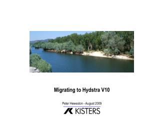 Migrating to Hydstra V10