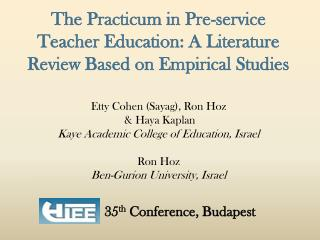The Practicum in Pre-service Teacher Education: A Literature Review Based on Empirical Studies