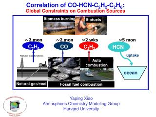 Correlation of CO-HCN-C 2 H 2 -C 2 H 6 :  Global Constraints on Combustion Sources