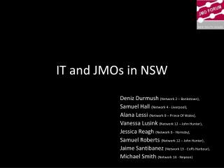 IT and JMOs in NSW