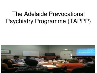 The Adelaide Prevocational Psychiatry Programme (TAPPP)