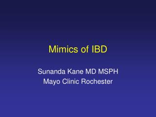 Mimics of IBD