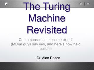 The Turing Machine Revisited