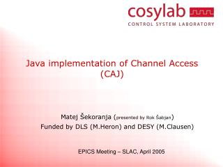 Java implementation of Channel Access (CAJ)