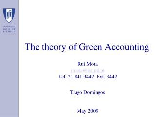 The theory of Green Accounting