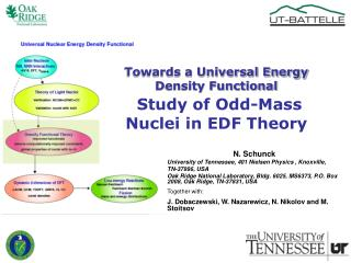 Towards a Universal Energy Density Functional Study of Odd-Mass Nuclei in EDF Theory