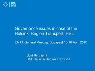 Suvi Rihtniemi HSL Helsinki Region Transport