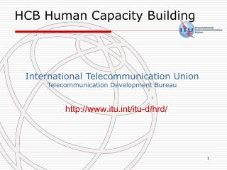 International Telecommunication Union Telecommunication Development Bureau