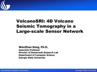 VolcanoSRI: 4D Volcano Seismic Tomography in a Large-scale Sensor Network
