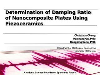 Determination of Damping Ratio of Nanocomposite Plates Using Piezoceramics