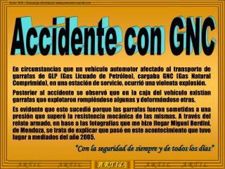 Accidente con GNC