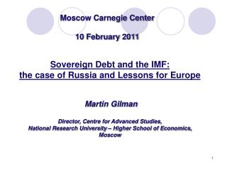 Moscow Carnegie Center 10 February 2011