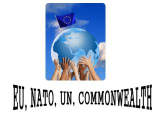 EU, NATO, UN, COMMONWEALTH