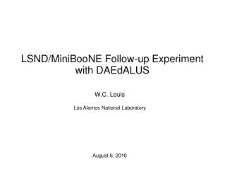 LSND/MiniBooNE Follow-up Experiment with DAEdALUS
