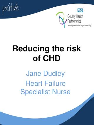 Reducing the risk of CHD