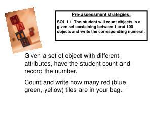 Pre-assessment Ideas