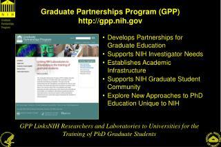 Graduate Partnerships Program (GPP) gpp.nih