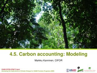 4.5. Carbon accounting: Modeling