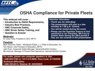 OSHA Compliance for Private Fleets