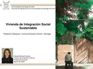 Población Velásquez / Comuna Estación Central / Santiago
