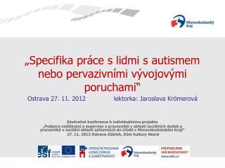 Závěrečná konference k individuálnímu projektu