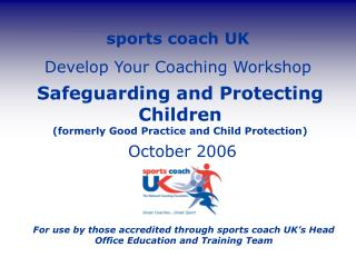Sports coach UK Develop Your Coaching Workshop