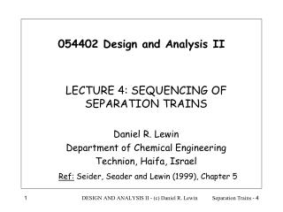 054402 Design and Analysis II