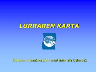 LURRAREN KARTA
