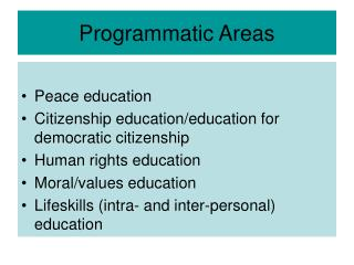 Programmatic Areas
