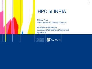 HPC at INRIA