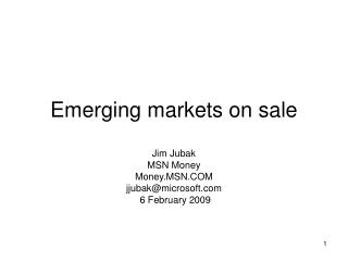 Emerging markets on sale