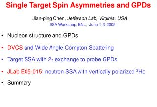 Single Target Spin Asymmetries and GPDs