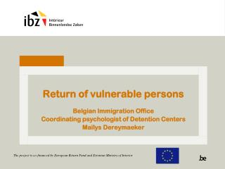 Return of vulnerable persons