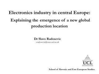 Electronics industry in central Europe: