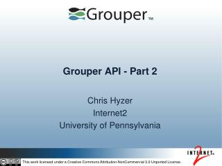 Grouper API - Part 2