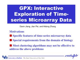 GPX: Interactive Exploration of Time-series Microarray Data